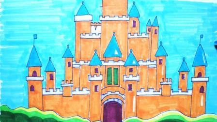神笔简笔画 欧式城堡, 儿童成人绘画马克笔教程大全