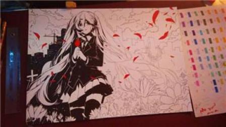动漫人物手绘教程-动漫手绘 两种不同光源方向阴影上色技巧