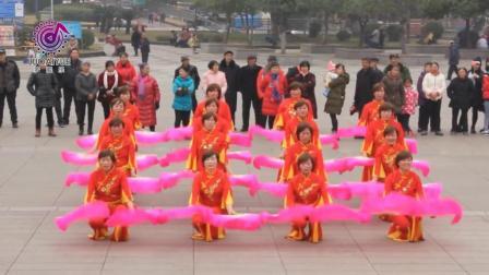 经典老歌-广场舞蹈比赛彩排东方红