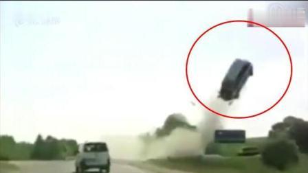 堪称现实版死亡飞车, 冲击力得有多大才能飞空十几米高?