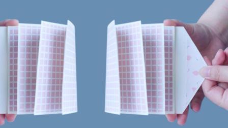 简单一张卡纸做神奇瀑布相册贺卡 抽拉一下每张相片都能流动起来 185