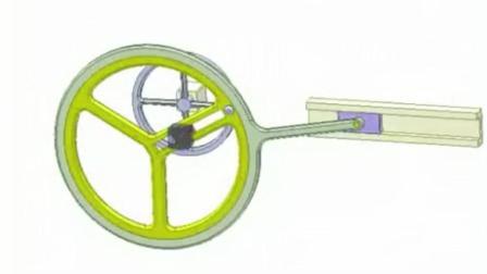 神奇的机械原理, 这是一个滑槽和曲柄滑块机构的巧妙组合