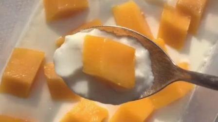 大白美食天地为你推荐美食芒果牛奶鸡蛋布丁