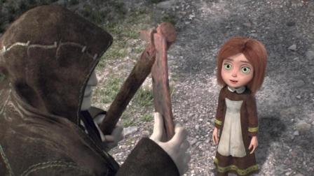死神镰刀与小女孩