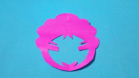 剪纸小课堂652: 女孩头像3 儿童剪纸教程大全 亲子手工DIY教学