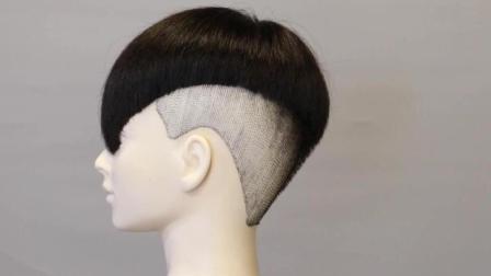 发型师边画边剪, 2018最流行的瓜子头发型