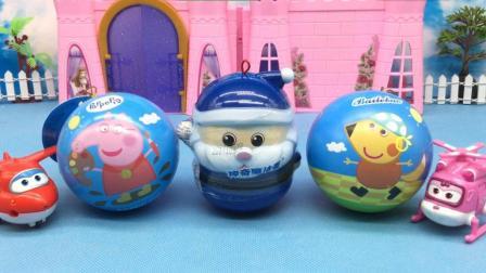超级飞侠拆小猪佩奇奇趣蛋 圣诞老人魔法蛋