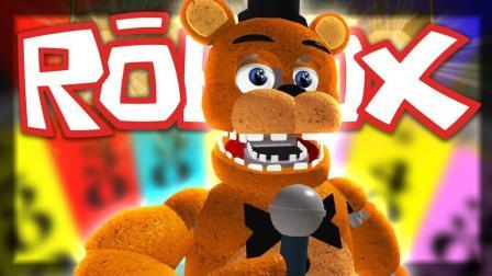 小飞象解说✘Roblox玩具熊的五夜后宫黄金弗莱迪! 建造恐怖披萨店! 乐高小游戏