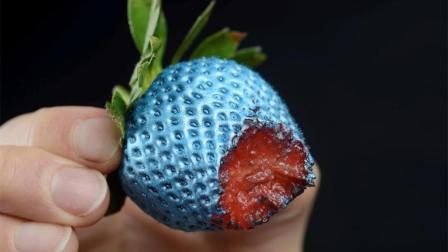 可以食用的喷漆, 金属感十足的草莓, 你敢吃吗?
