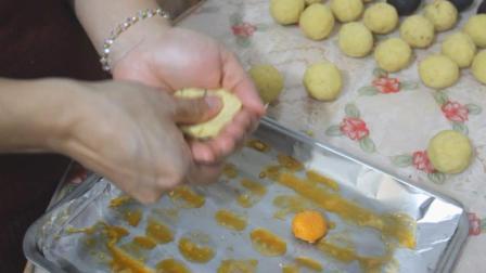 自己在家做蛋黄酥, 内馅绝对真材实料, 豆沙真得自己做才够香