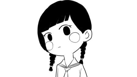 二次元女孩漫画头像卡通简笔画