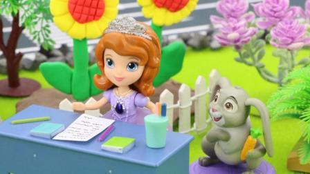 『奇趣箱』小公主苏菲亚希望能收到一封信, 于是想出一个好办法, 什么办法呢?
