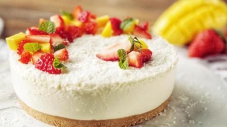 桌饭 第一季 不用烤箱也可以做的椰蓉慕斯蛋糕 咬一口 满满都是椰子香味
