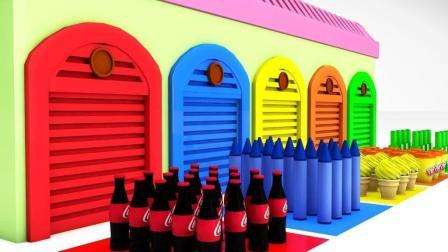 儿童学英语歌 颜色冰淇淋可乐播放儿童卡通童谣 婴儿娃娃手指歌 奶瓶【俊和他的玩具们】
