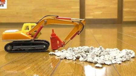 儿童汽车玩具! 挖掘机推土机水泥车起重机小车车小巴士