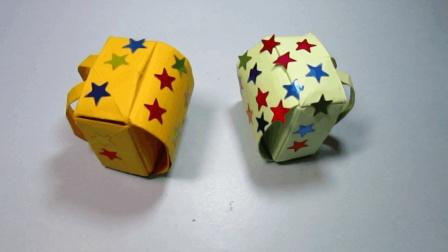 儿童手工折纸大全: 小书包的折法教程