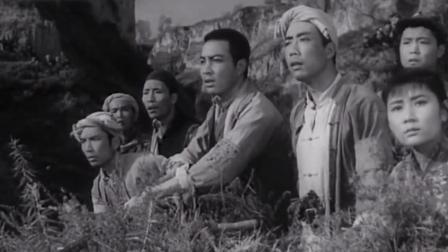 《红河激浪》,张铁娃率领游击队截击敌人运粮队时被围堵