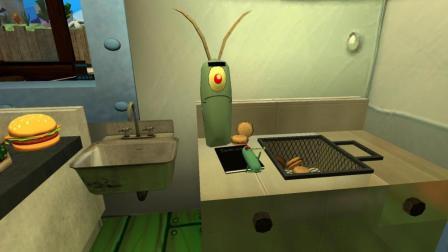 GMOD游戏海绵宝宝痞老板居然跑到蟹堡王偷蟹老板的秘籍