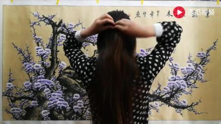 真人版编发, 50岁的女人怎么扎头发有气质? 试试这款发型气质十足