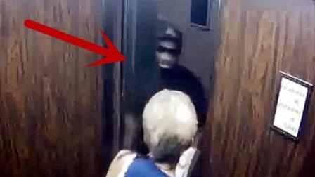 国外女子走进电梯, 没注意身后, 监控拍下不耻一幕!