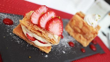 美食制作: 经典法式甜点—草莓千层酥