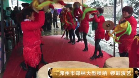 河南省邓州市郑林大型唢呐, 锣鼓文艺表演, 太精彩了