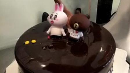 六寸巧克力淋面蛋糕, 定价60元是有他的道理的!