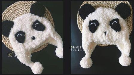 [第85集]珊瑚绒绒线宝宝熊猫帽子编织视频