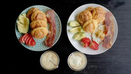 元气双人早餐|无糖云朵面包+自制奶油奶酪
