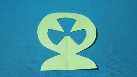 剪纸小课堂658电风扇2 儿童剪纸教程大全 亲子手工DIY教学