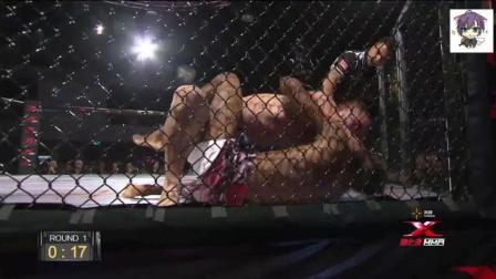 张美煊用中国传统武术兔子蹬鹰KO美国拳王, 躺在地上一脚踢晕对手