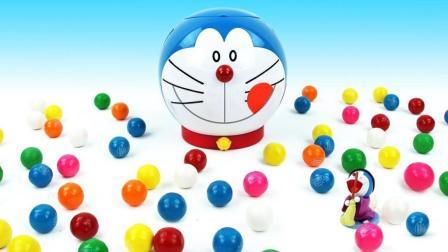 哆啦A梦彩虹糖变身奇趣惊喜蛋? 儿童色彩认知游戏培养宝宝想象力!