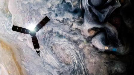 耗资10亿美金的朱诺号木星探测器, 拍摄到了最新的木星星云
