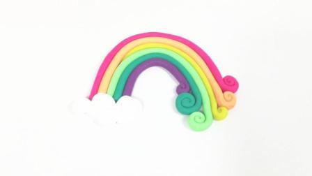 培乐多制作彩虹桥 漂亮的彩虹云朵