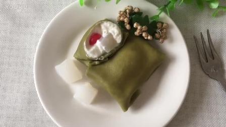 小蛋糕烘焙视频教程 椰子抹茶(班戟)热香饼的制作方法lx0 烘焙教程 谁的好