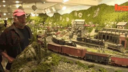 占地278平方米的火车运行模型, 堪称美国第一!
