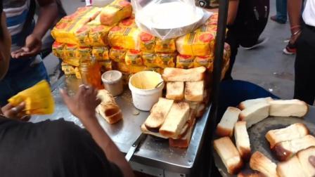 黄油烤面包和果酱面包是印度很受欢迎的早餐, 有吃过的没