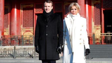 现场视频: 法国总统马克龙与夫人牵手逛故宫