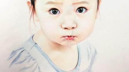 一痕老师有史最详细彩铅画人物教学零基础也能学会嘟嘴小女孩 彩铅画眼睛眉毛