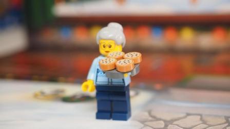 乐高搭建迎新特辑24合1: 冬季城市60155第8天, 派姜饼的老祖母