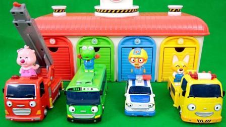 小企鹅波鲁鲁可爱的小巴士泰路车库玩具惊喜蛋 粉红猪小妹果冻豆玩具动画【俊和他的玩具