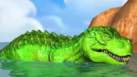恐龙动画片 恐龙世界 恐龙总动员 霸王龙玩具动画视频26