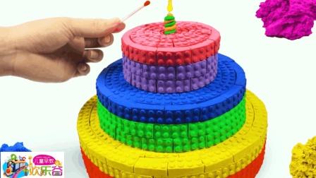 儿童早教欢乐谷 2017 亲子玩具早教, 用彩色沙子制作七彩蛋糕 177