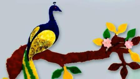教你如何用毛线制作精美的孔雀装饰墙画 创意DIY 手工制作