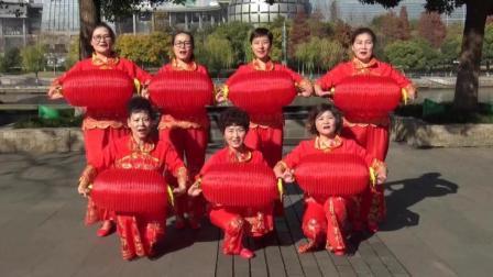 莉莉老师原创广场舞《红红火火》灯笼舞 喜庆感十足