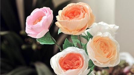 皱纹纸还原奥斯汀玫瑰, 超美