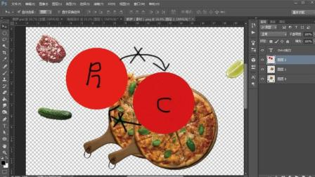 PS基础入门教程, 商业风格海报技法, PS精品课披萨海报设计