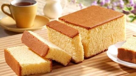 一把低筋面粉, 加四个鸡蛋, 教你做好吃的奶油蛋糕, 宝宝超爱吃