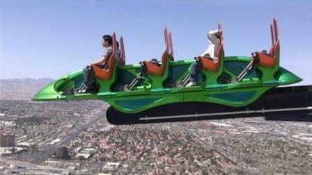 350米塔尖上的游乐场 超级刺激危险 没人敢尝试