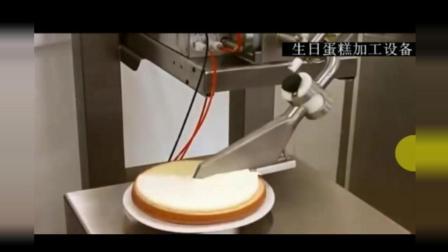 终于看到生日蛋糕国外机器加工视频, 圣安娜老板愿望成真!